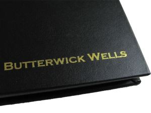 Butterwick Wells personalised foil blocking